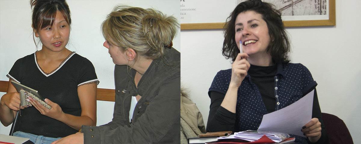 Lezione al corso combinato di lingua italiana