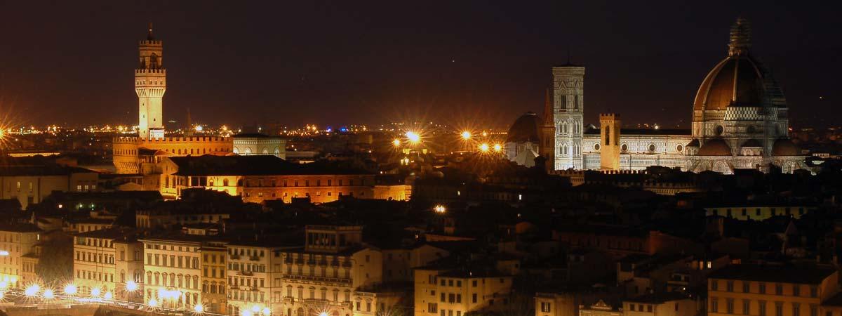 Nachtansicht von Florenz