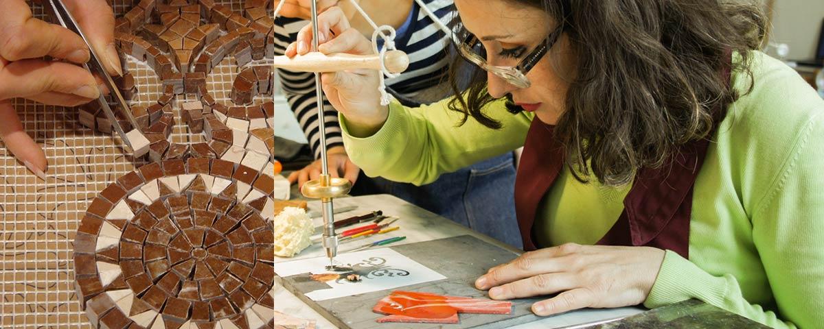 Taller de mosaico florentino
