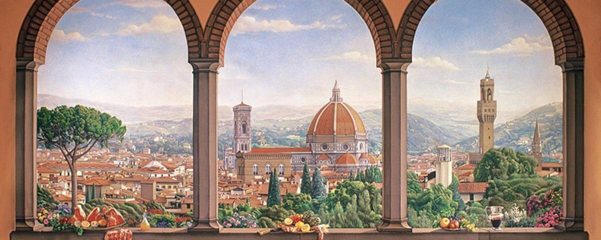 Painting with a view of Florence
