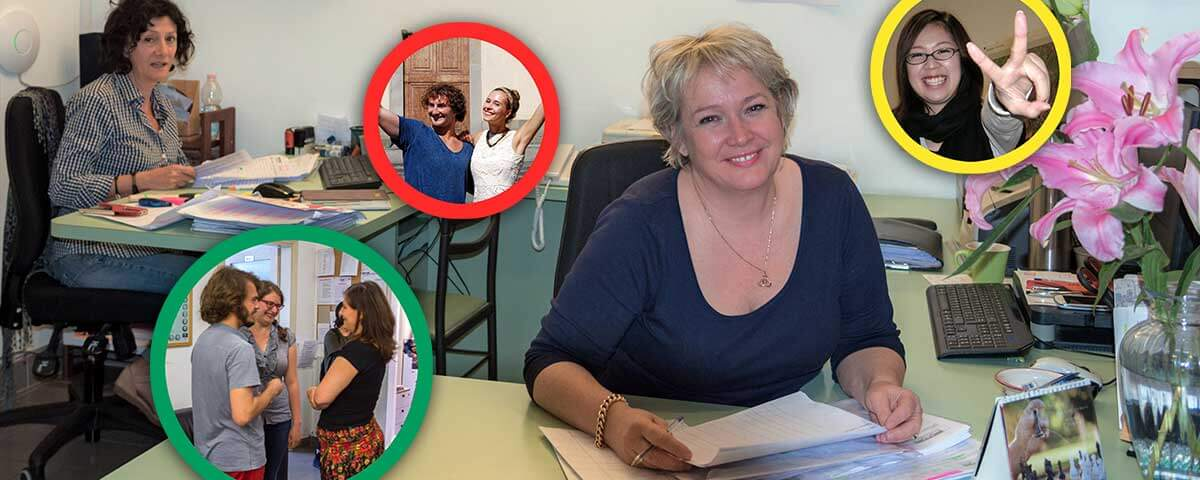 A secretaria da escola de língua italiana Centro Machiavelli