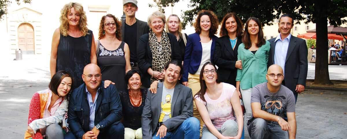 Il gruppo di lavoro della scuola di lingua italiana Centro Machiavelli