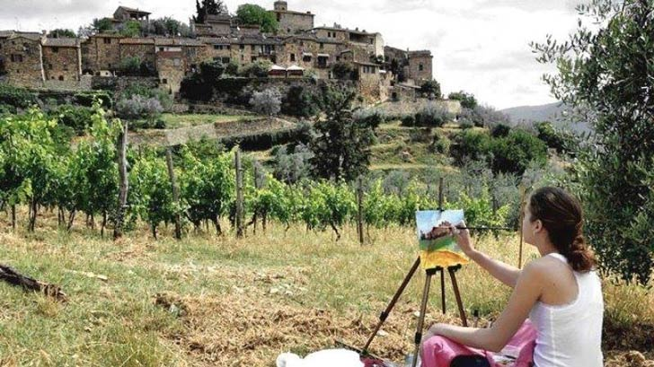 Painting the Tuscan countryside